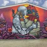 Street Art by Saner on Festival Cheminance in Fleury les-Aubrais, France