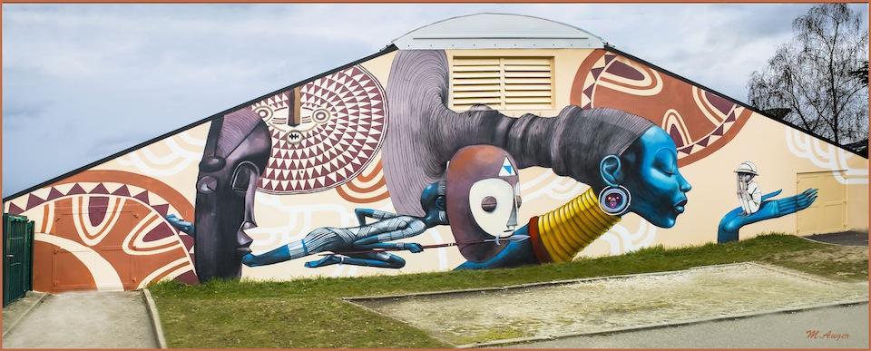 Street Art by Seth on Festival Cheminance in Fleury les-Aubrais, France 2