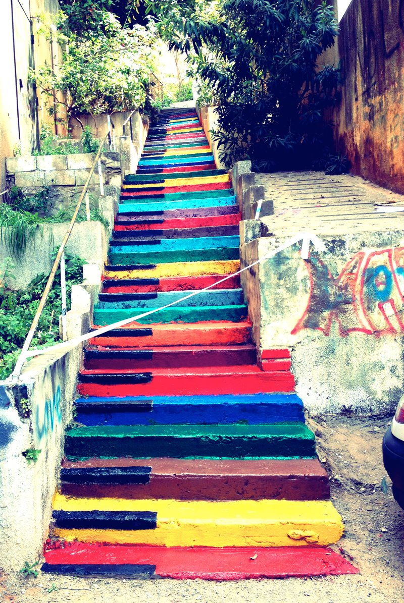 A Collection of Colorful Stairs