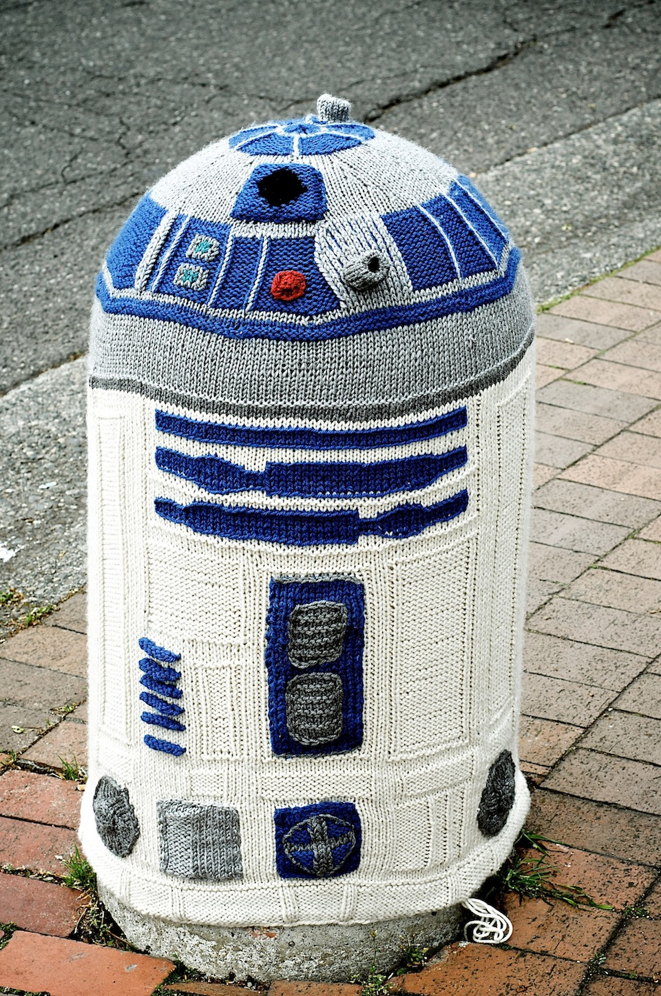 Yarn Bombing - R2D2 in Bellingham, Washington, USA