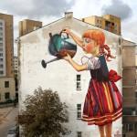 Mural by Natalii Rak at Folk on the Street in Białymstoku, Poland 3