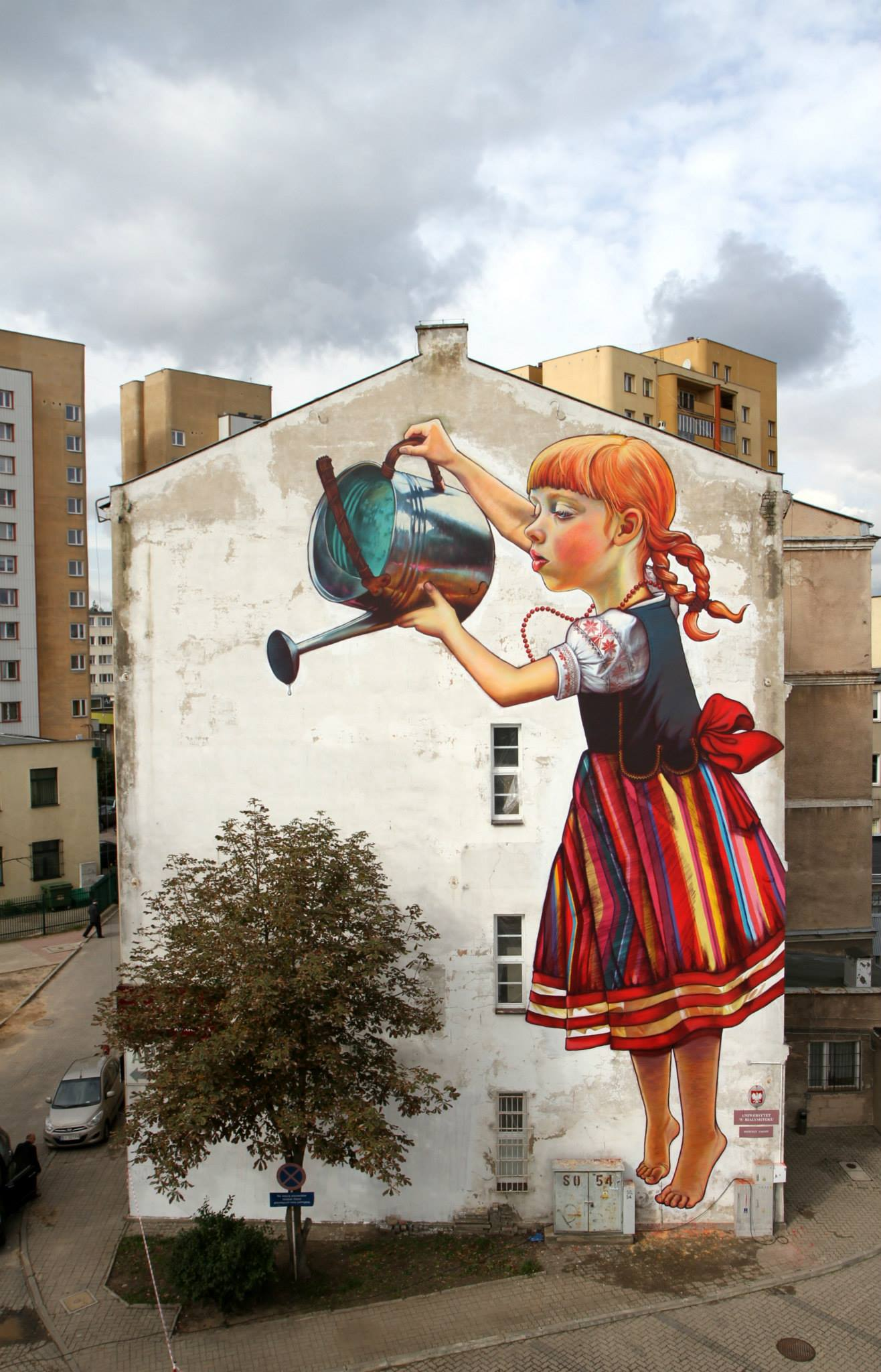 Mural by Natalii Rak at Folk on the Street in Białymstoku, Poland 3