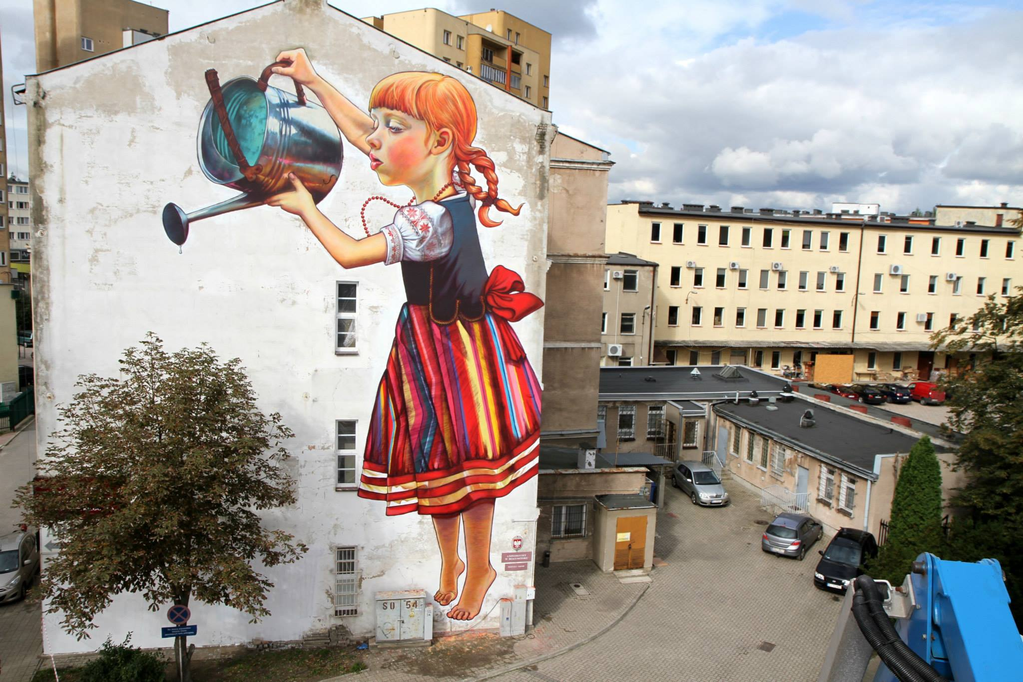 Mural by Natalii Rak at Folk on the Street in Białymstoku, Poland 4