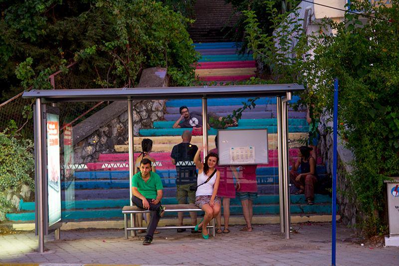 Street Art Color Steps in Turkey 6