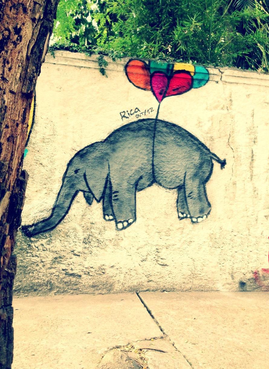 Flying elephant - By Rica in São Paulo, Brazil