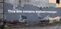 By Banksy - This site contains blocked messages. In Greenpoint, New York, USA 1