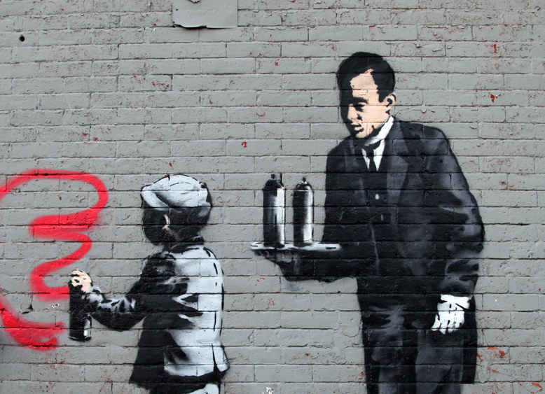 Street Art By Banksy in South Bronx, New York, USA 2