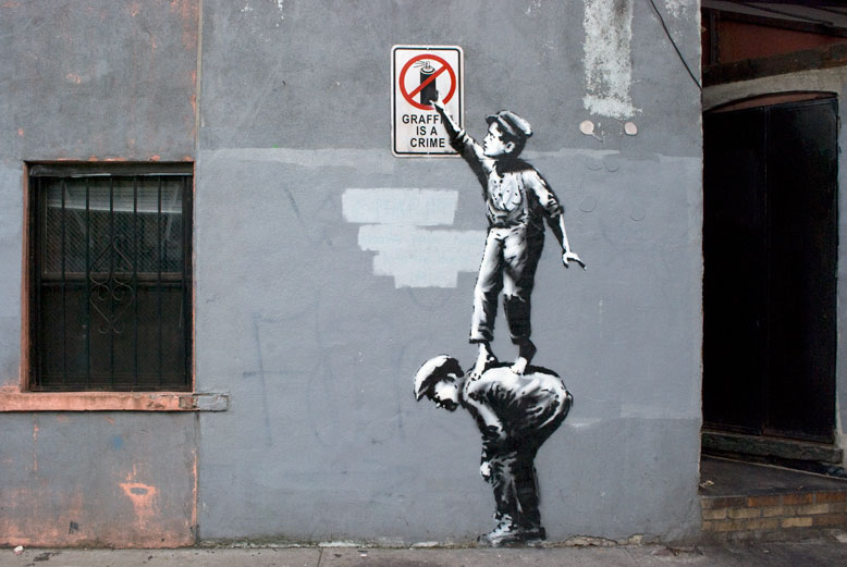 Street Art by Banksy in New York 1