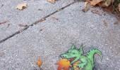 Street Art by David Zinn in Michigan, USA 8425