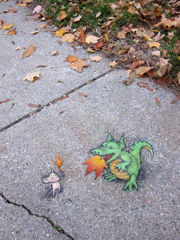 Street Art by David Zinn in Michigan, USA 8425