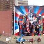 Street Art by Eduardo Kobra of Abraham Lincoln in Kentucky, USA 564789