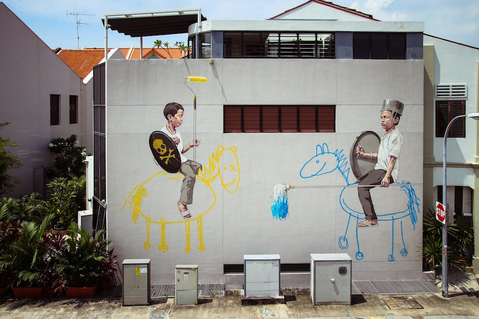 Street Art by Ernest Zacharevic in Johor Bahru, Malaysia 34636