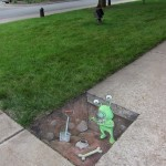 Street At by David Zinn in Michigan, USA