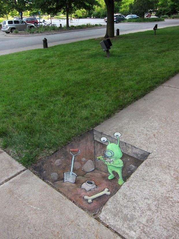 Street At by David Zinn in Michigan, USA