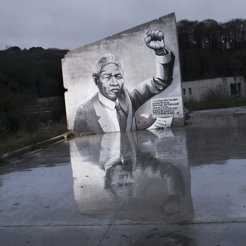 By Pakone in Brest, France - A tribute to Nelson Mandela 1