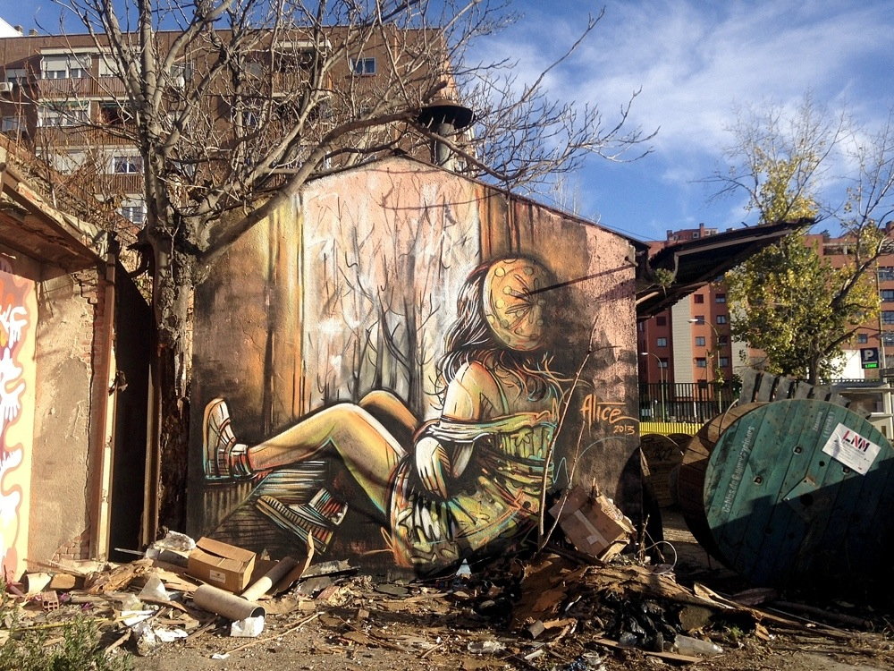 Street Art by Alice in Madrid, Italy 1