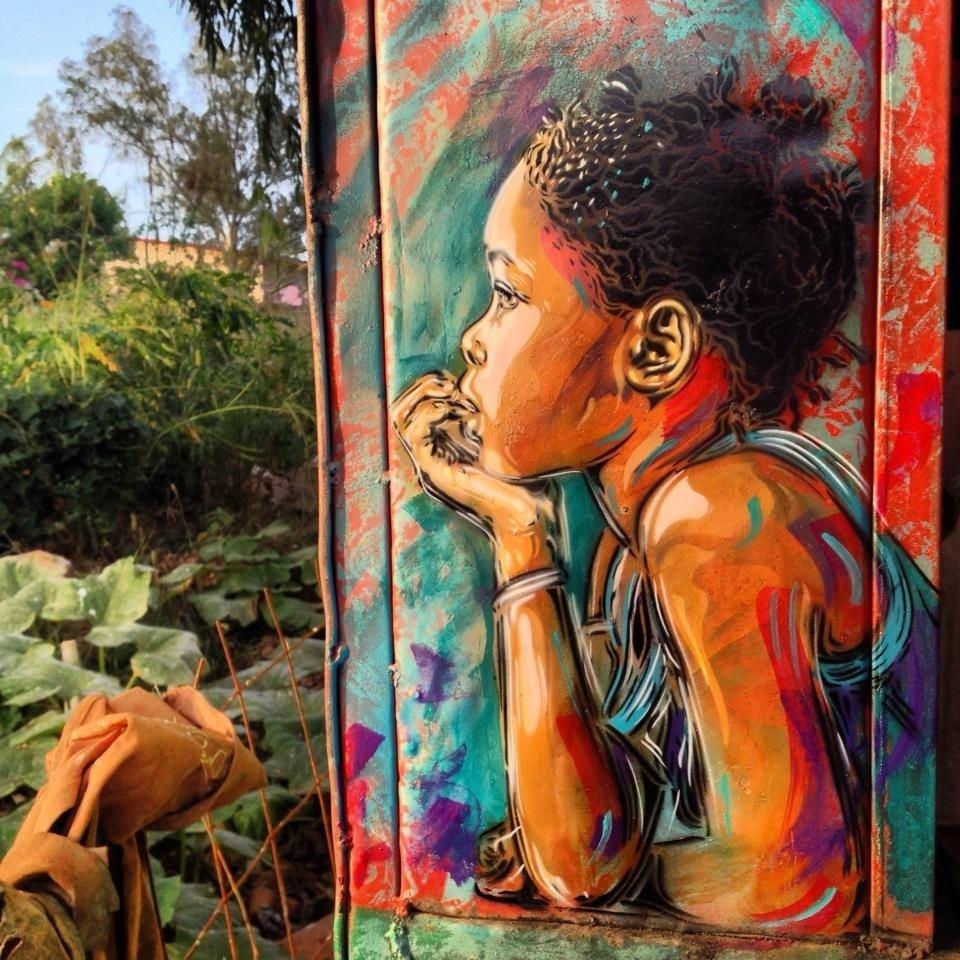 Street Art by C215 in Senegal 2