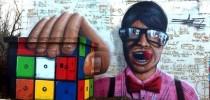 The Rubik Cube - 3D Street Art by Jeazer Oner