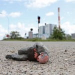 Cement Eclipses -By Isaac Cordal 2013 in 16