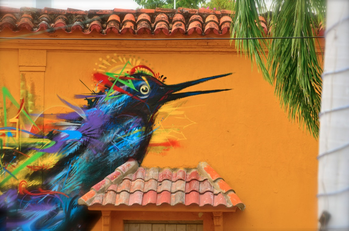 Graffiti by Yurika in Cartagena, Colombia 2