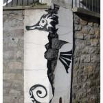 Sea Horse in St Etienne, France by Ladamen Rouge smal