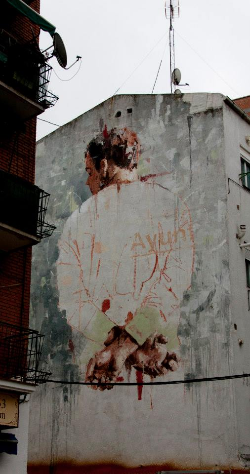 Street Art by Borondo in Tetuan, Madrid, Italy 3