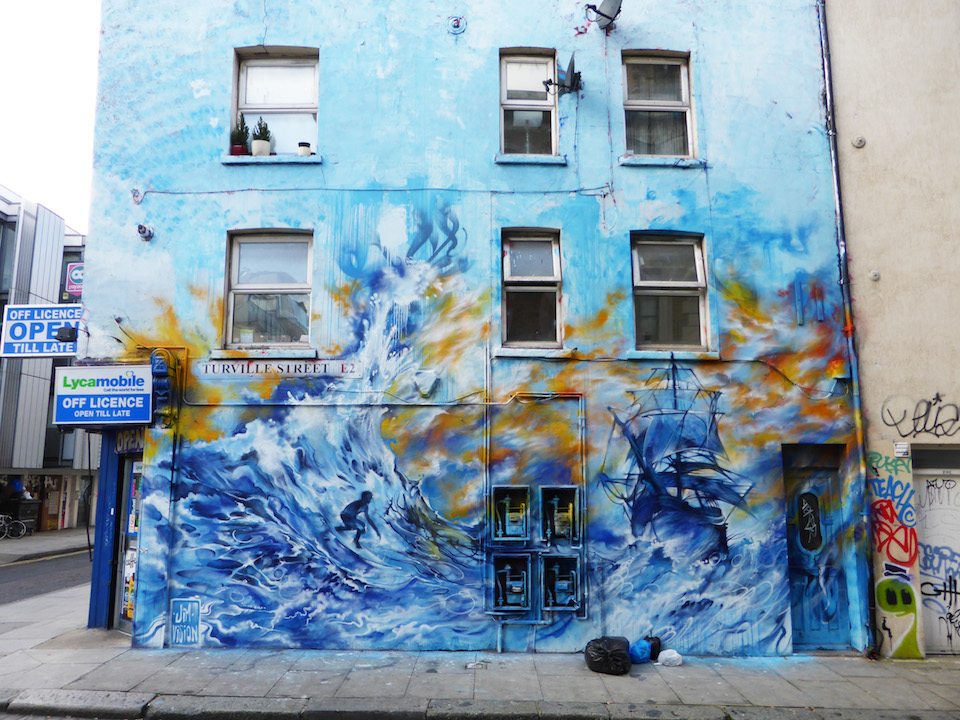 Street Art by Jim Vision at Turville Street, London, England