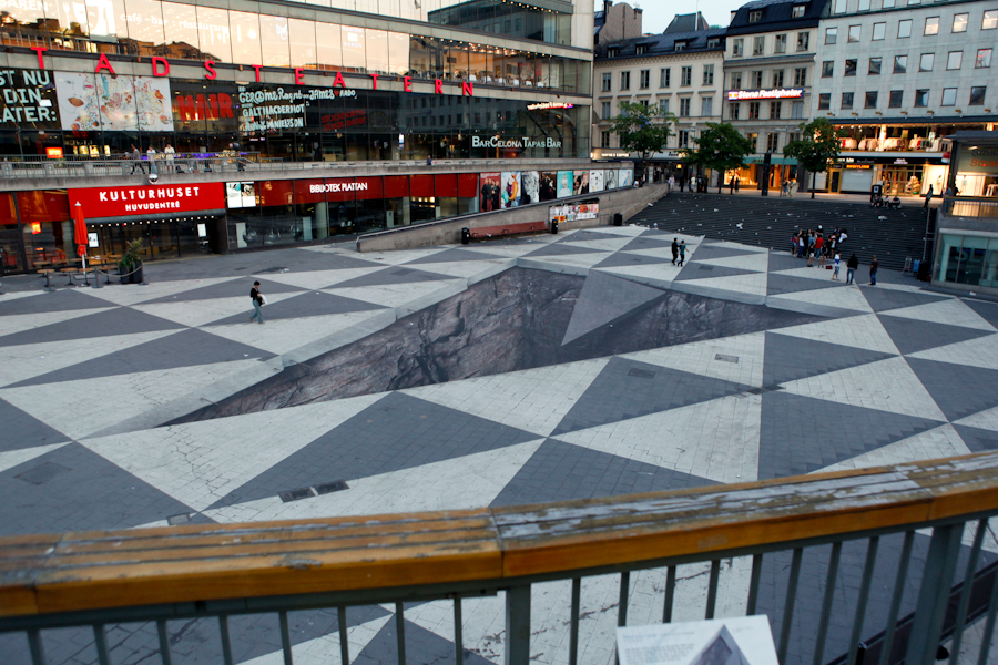 Mind Your Step - 3D Street Art in Stockholm, Sweden