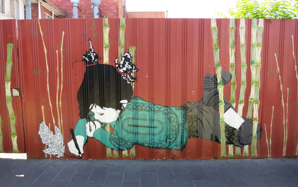 Street Art by Be Free in Melbourne, Australia 1