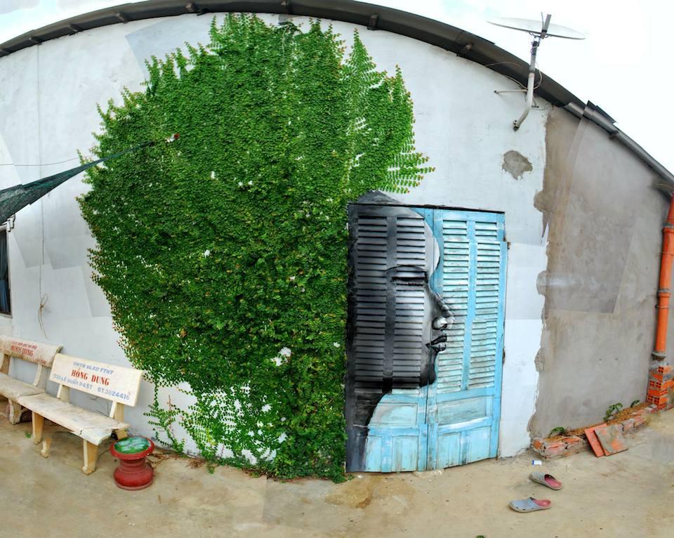 Street Art by Công Thành in Soc Trang province, Vietnam
