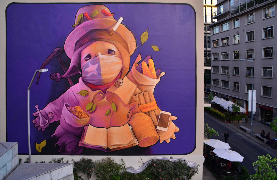 Street Art by INTI in Santiago, Chile 5353