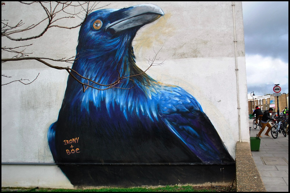 Street Art by Irony and Boe in London, England