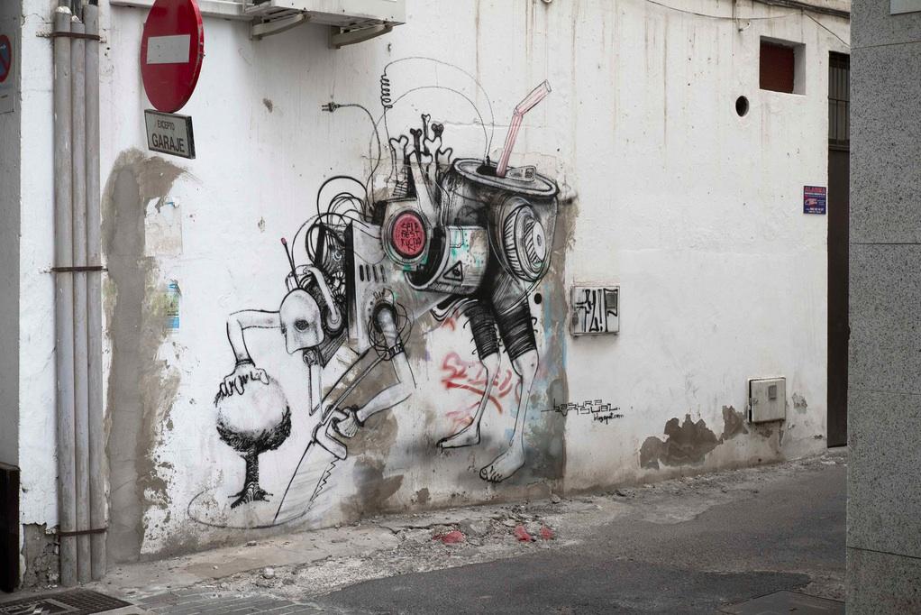 Street Art in Arrecife on Lanzarote in Spain