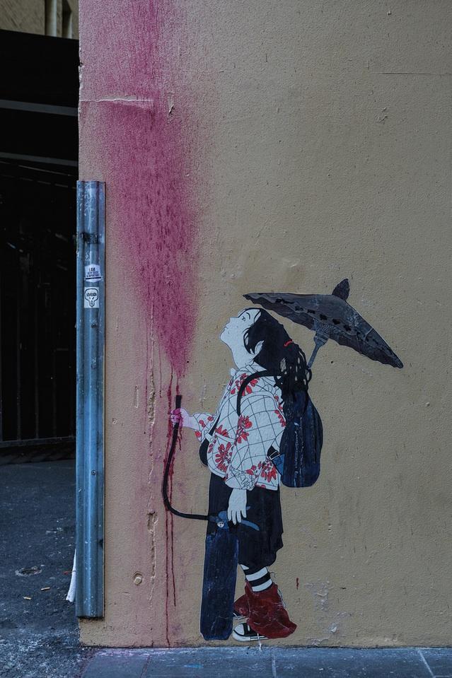 Street Art by Be Free in Melbourne, Austalia 5