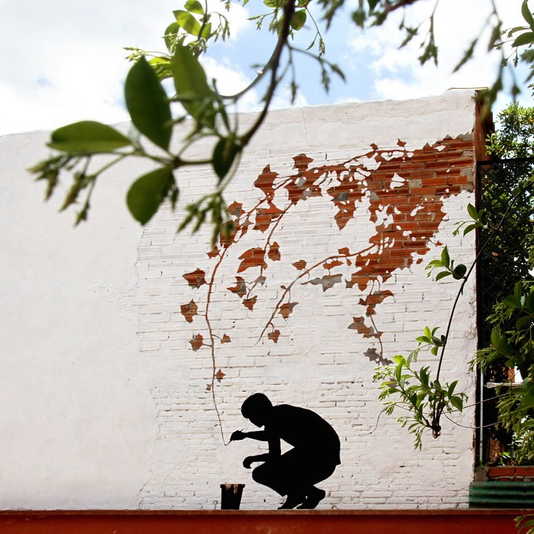 Street Art by Pejac in Madrid, Spain