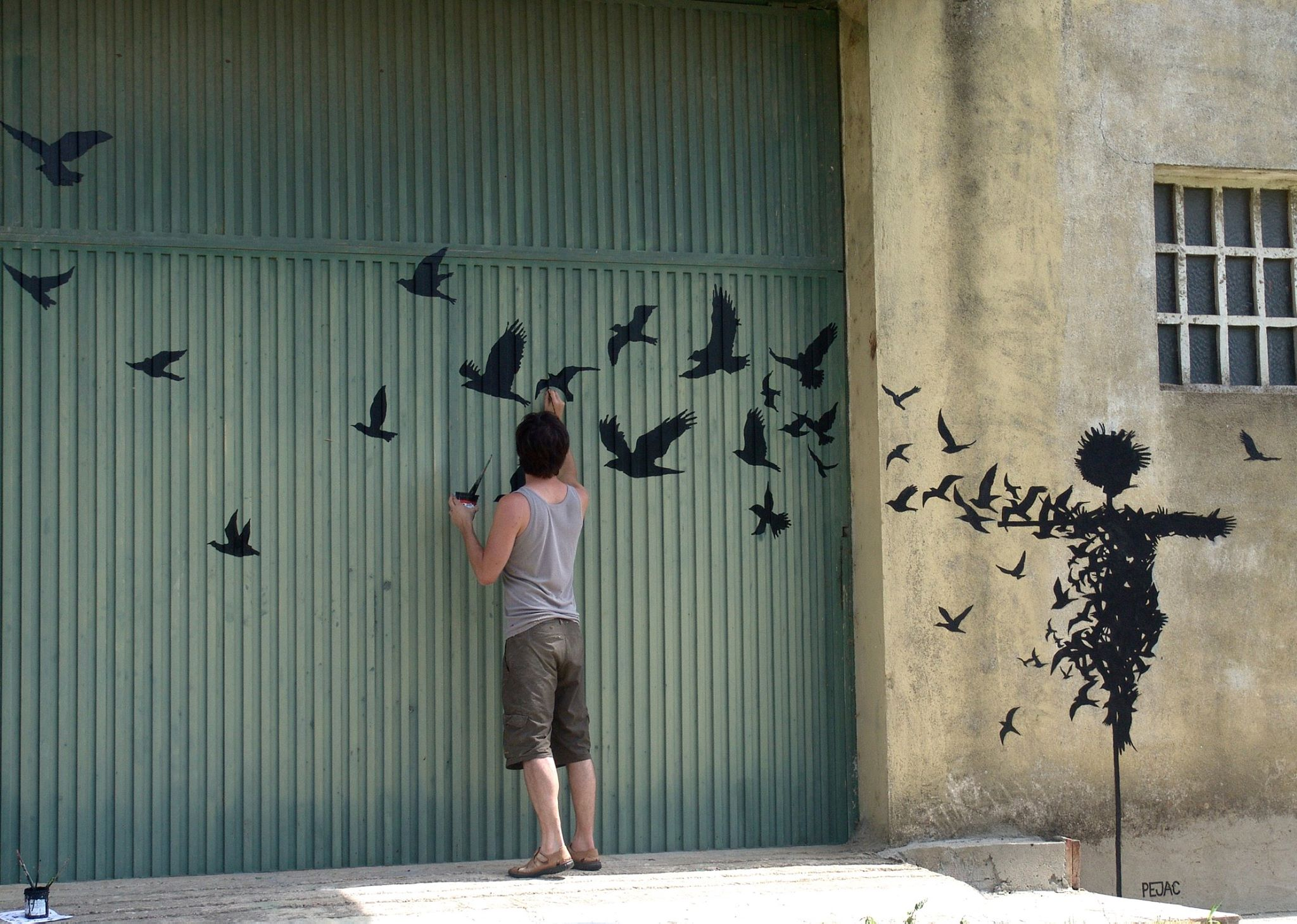 Street Art by Pejac in Salamanca, Spain 2