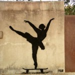 Street Art by Tyler in New York, USA. Ballerina Level - Expert