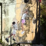 Street art by Ernest Zacharevic in George Town, Penang, Malaysia 3509