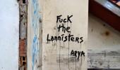 Fuck the Lannisters - Arya. Street Art by Oakoak in France