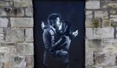 Phone Lovers - Street Art by Banksy in Bristol, England fb