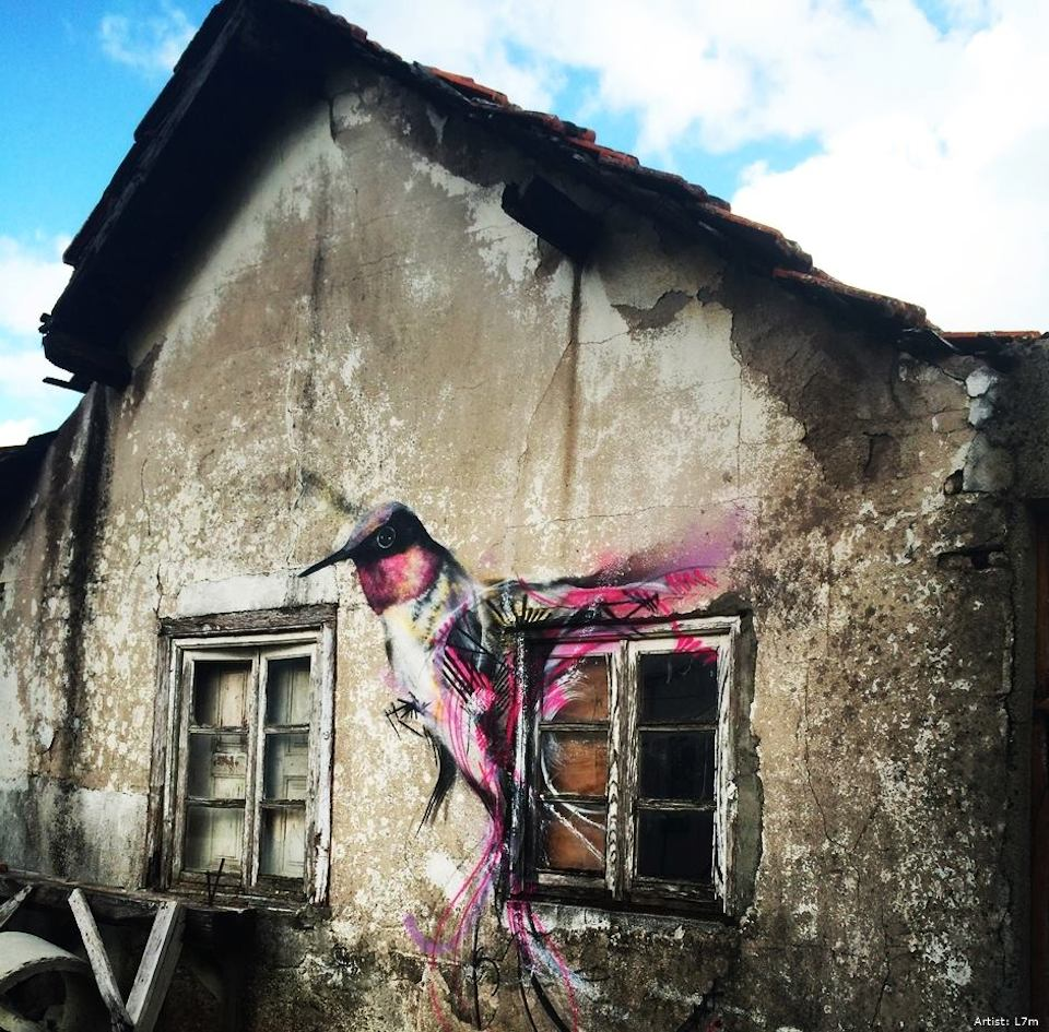 Steet Art by L7m in Guarda, Portugal