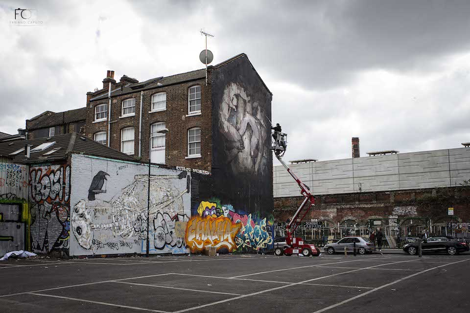 Street Art by Borondo in Shoreditch, East London 9