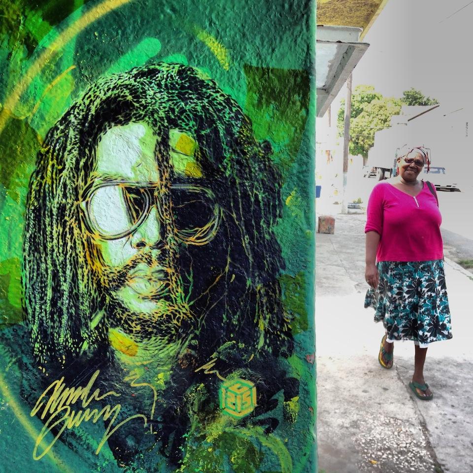 Street Art by C215 in Kingston, Jamaica 5