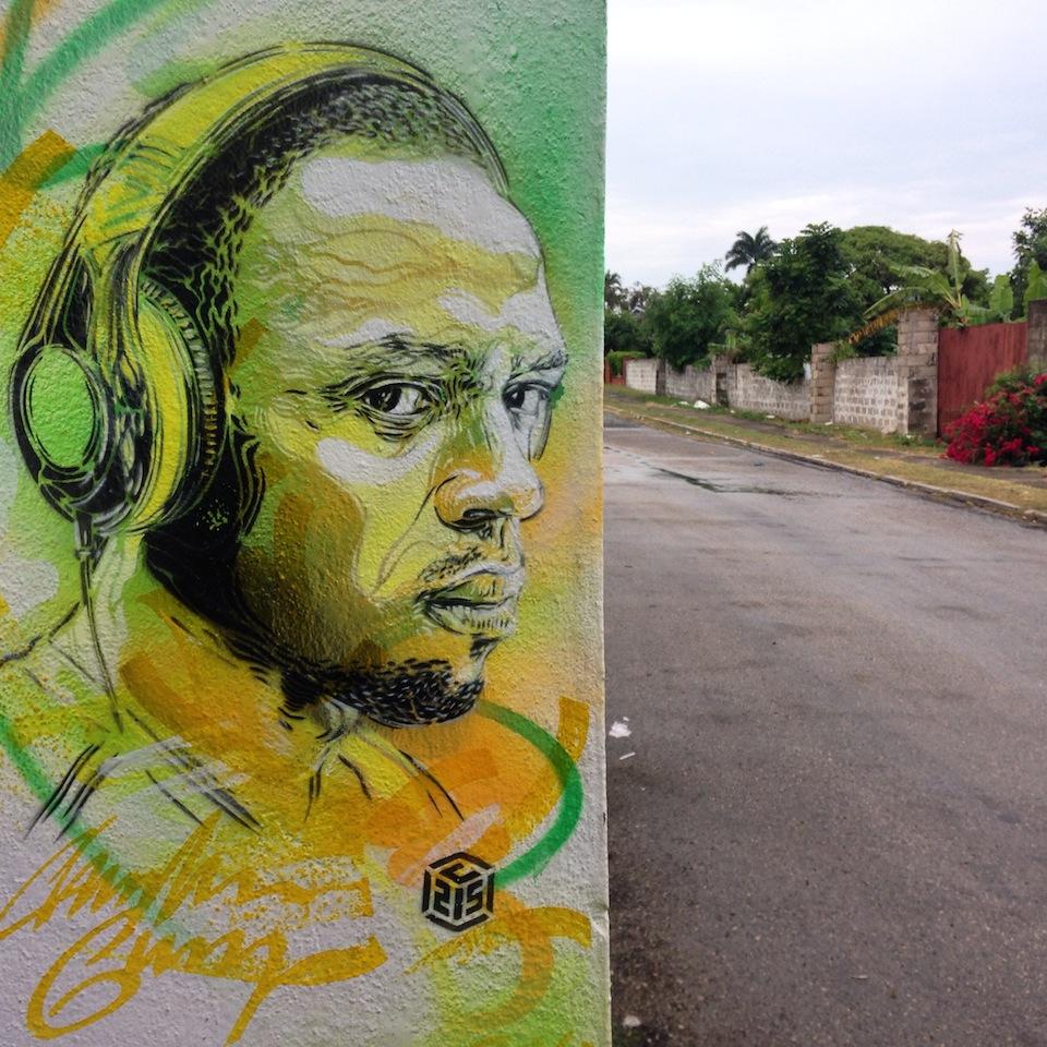 Street Art by C215 in Nine Mile, Jamaica 8