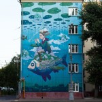 Street Art by Rustam QBic in Russia 6469