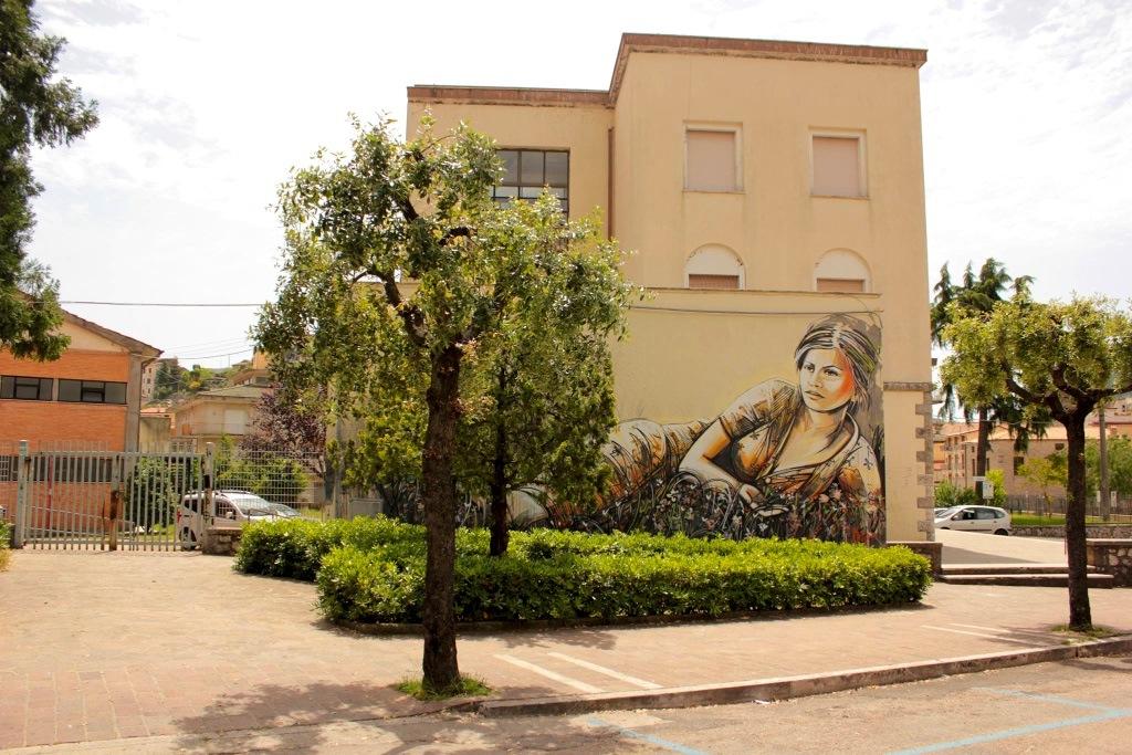 By Alice Pasquini in Itri, Italy for the Memorie Urbane Festival 0
