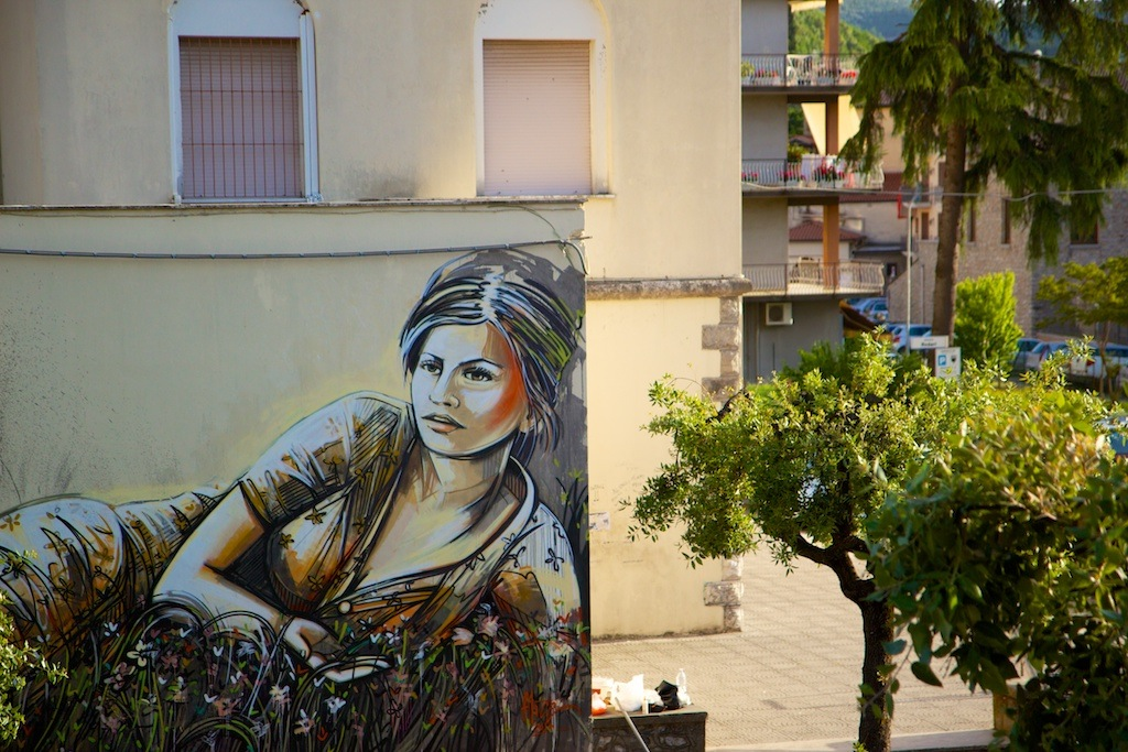 By Alice Pasquini in Itri, Italy for the Memorie Urbane Festival 4