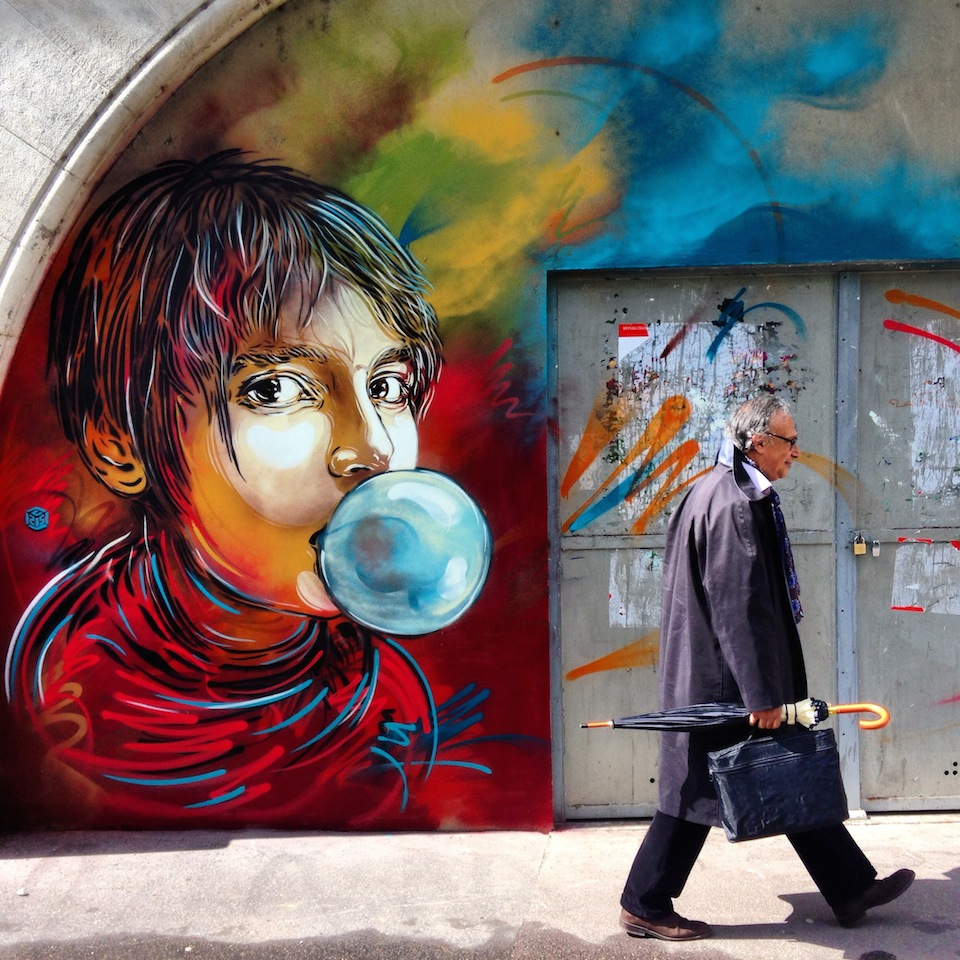 Street Art by C214 in Paris, France