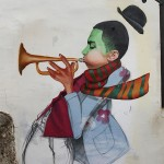 Street Art by Cheko - Winter Jazz in Granada, Spain 2
