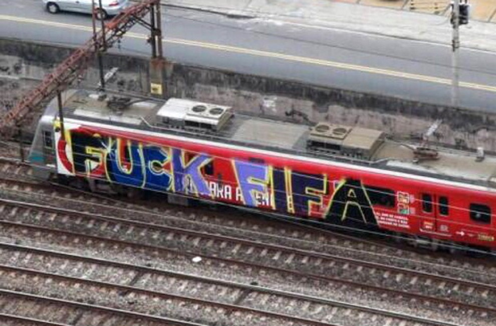 Street Art FIFA World Cup in Rio de Janeiro, Brazil 54564357725455787